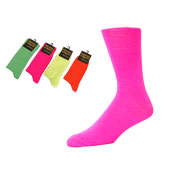 Mens Neon Socks Pink