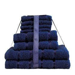 8 Piece Towel Bale Navy Egyptian Cotton