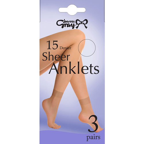 Ladies 15 Denier Anklets With Comfort Top
