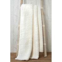 Soft and Cosy Teddy Blanket Throw Natural