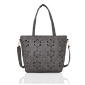 Ladies Lasercut Tote Bag Dark Grey