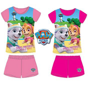 Girls Paw Patrol On A Roll Pyjamas Shortie Set
