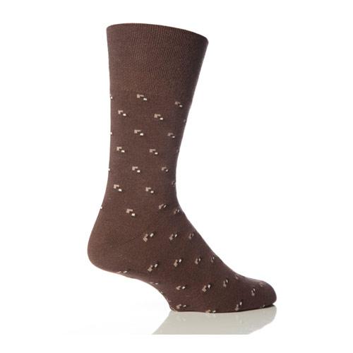 Mens Gentle Grip Socks Patterns Browns