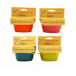 Baby Travel Bowls With Lid Pack of 2