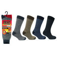 Mens Heat Machine Thermal Socks Twisted Yarn Carton Price
