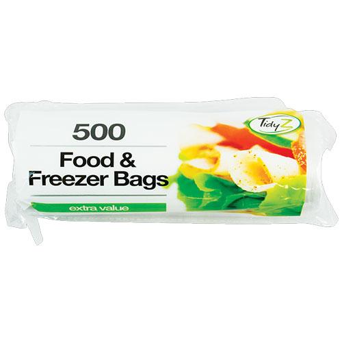 Food & Freezer Bags 500 Pack
