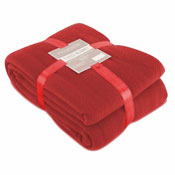 Fleece Blanket Plain Red