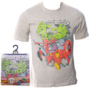 Mens Marvel Comics T Shirt Cream
