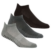 Mens Gripper Sole Sport Trainer Socks Plain