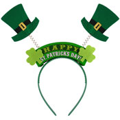 St Patrick's Day Head Bopper With Irish Hats And Signs