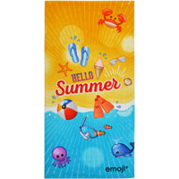 Official Emoji Beach Towel Hello Summer