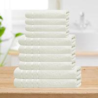 Bear & Panda 10 Piece Cotton Towel Bale Cream