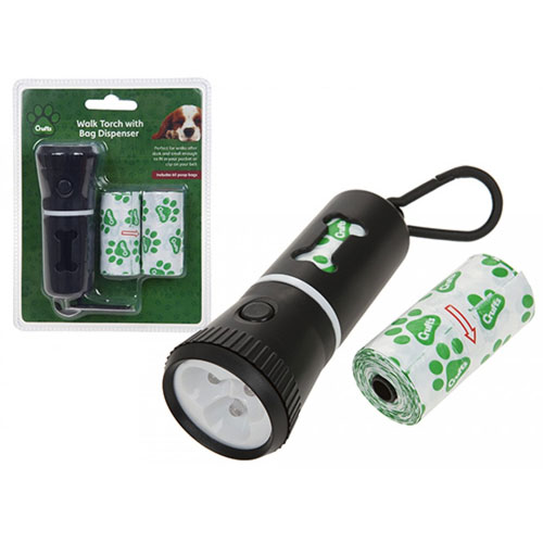 Crufts Walk LED Torch With Doggy Bag Holder