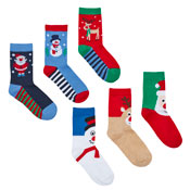Childrens Festive Christmas Cotton Rich Socks