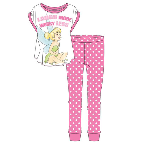 Ladies Official Tinkerbell Laugh More Pyjamas