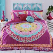 Paisley Mandala Pink Reversible Duvet Set