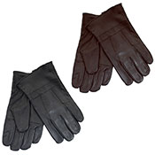 Mens Leather Gloves Black/Brown