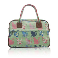 Kitty Day Canvas Weekend Bag Green