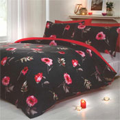 Darcy Red Quilt Cover Duvet Set