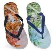 Mens Surf Print Flip Flop
