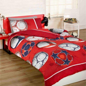 Childrens Fun Filled Bedding - Football Red