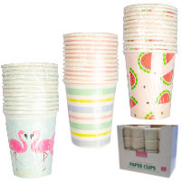 Summer Paper Cups 12 Pack