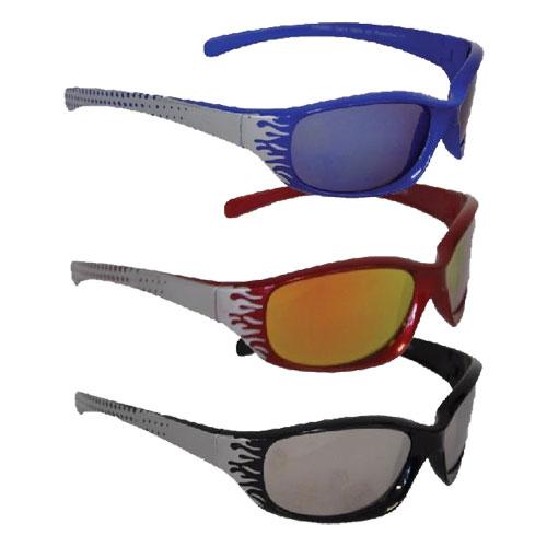 Boys Flame Design Mirror Sunglasses