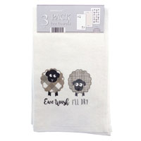 3 Pack Velour Kitchen Towels Ewe Wash