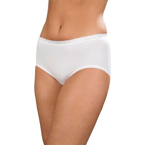 Ladies Comfort Midi Briefs White 3 Pack
