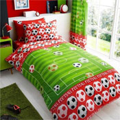 Goal Red Rotary Duvet Set
