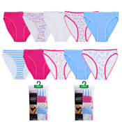 Ladies Assorted Design High Leg Briefs