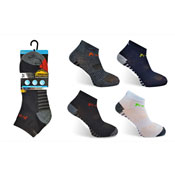 Mens ProHike Trainer Socks Stripe Heel