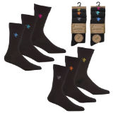 Mens 3 Pack Bamboo Embroidered Socks Eagle