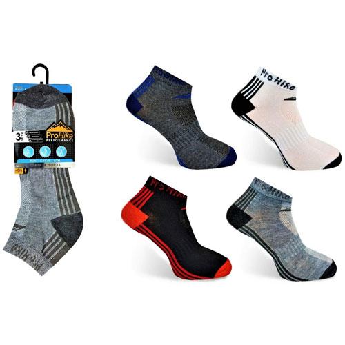 Mens Pro Hike Trainer Socks Foot Stripes