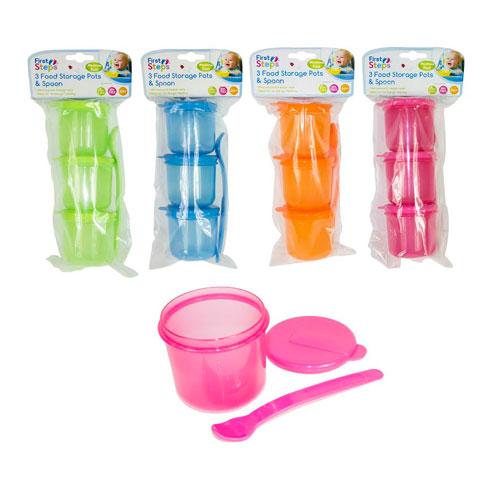 Food Storage Pots & Spoons