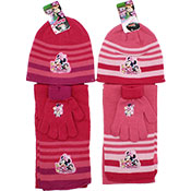 Official Minnie Mouse 3 Piece Knitted Hat Glove & Scarf Set