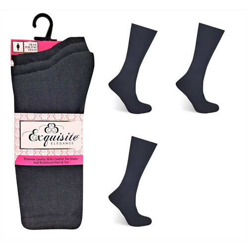 Ladies Exquisite Computer Socks Black Carton Price