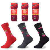 Socksation Ladies Thermal Fashion Socks Cherry