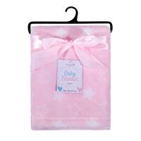 Baby Blanket Printed Stars Pink