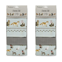 Curious Cats Tea Towels 3 Pack