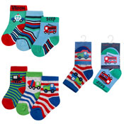 Baby Novelty Design Socks Emergency Vehicles