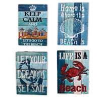 Novelty Seaside Motto Magnet
