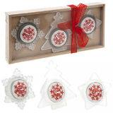 Festive Tealight Candle Set Red