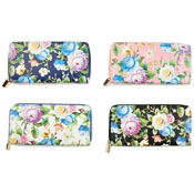 Ladies Card And Coin Purse With Digital Flower Prints