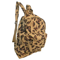 Butterfly Design Canvas Backpack