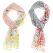 Fashion Scarf Multi Flower Print