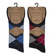 Mens Bamboo Argyle Socks