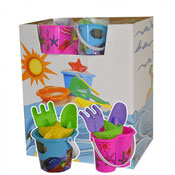 Mini Printed Beach Bucket Set