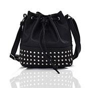 Brienne Stud Crossbody Bag Black
