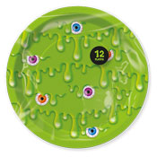 Slime Disposable Party Plates